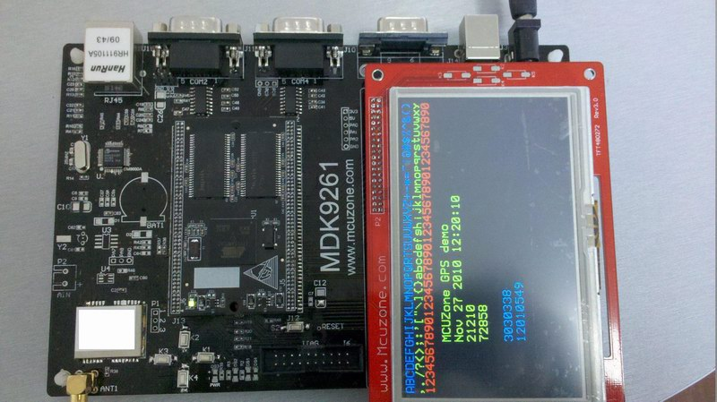 基于mdk9261开发板的gps演示程序