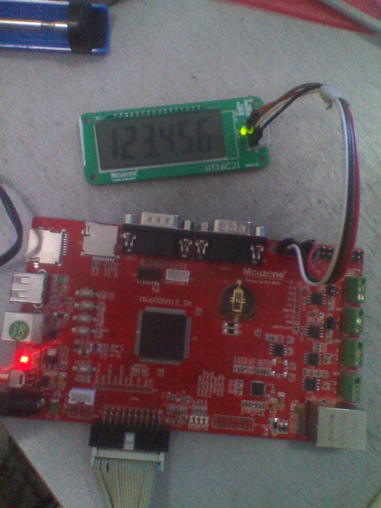 基于k60-ek的ht16c21段式液晶屏模块驱动演示