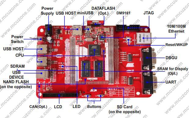 vc9263-ek开发板(at91sam9263) 送仿真器