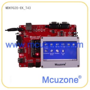 MDK9G35-EK_T43开发板, AT91SAM9G35,USB 2.0高速主机和从机,以太网,音频,4.3寸TFT LCD