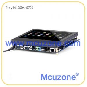 Tiny4412SDK1312-S700开发板,1GB DDR3 RAM @400Mhz, 标配4GB eMMC闪存, 7寸800×480 LCD, 五点电容触摸,背光可调