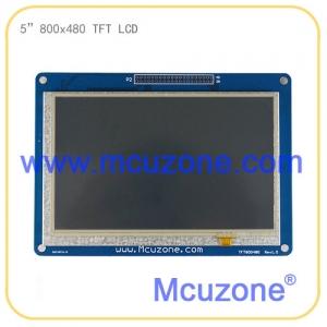 5寸 800*480 TFT LCD液晶屏,RGB接口,带触摸 驱动板